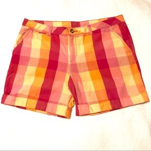 Faded Glory checkers plaid shorts size 18